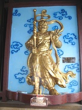 Vaishravana (roi-gardien du Nord), Lokapâlas (rois-gardiens), pagode Vinh Nghiem (39 rue Nam Ky Khoi Nghia, quartier 7, 3ème arrondissement, Ho Chi Minh ville)