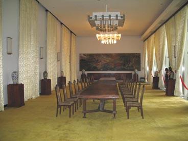 salle de réception, palais de la réunification (133 rue Nam Ky Khoi Nghia, quartier Ben Thanh, 1er arrondissement, Ho Chi Minh ville)