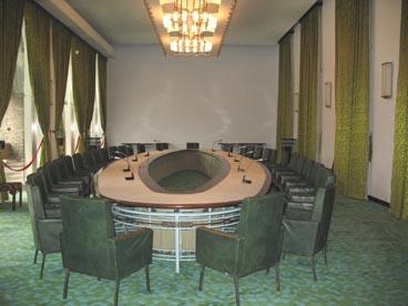 salle du conseil des ministres, palais de la réunification (133 rue Nam Ky Khoi Nghia, quartier Ben Thanh, 1er arrondissement, Ho Chi Minh ville)